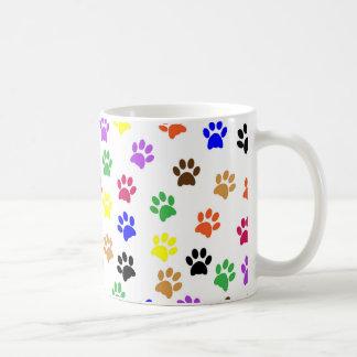 カラフルな猫は-猫の足のコーヒー茶マグをたどります コーヒーマグカップ