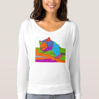 カラフルな猫 Tシャツ