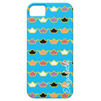 カラフルな王冠のモダンパターン iPhone SE/5/5s ケース