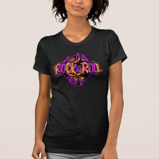 カラフルな石及びロールレトロのTシャツ Tシャツ