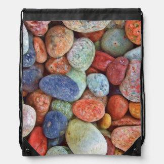 カラフルな石 ナップサック