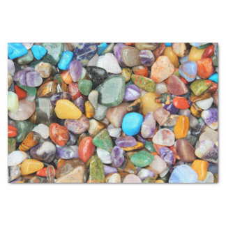 カラフルな石、小石、石 薄葉紙