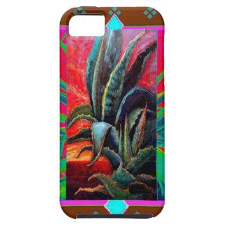 カラフルな砂漠の日の出のリュウゼツランのサボテン iPhone SE/5/5s ケース