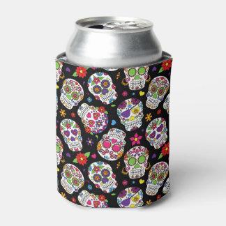 カラフルな砂糖のスカル 缶クーラー