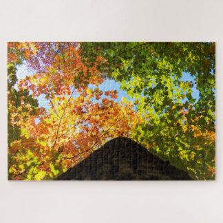 カラフルな秋の梢 ジグソーパズル
