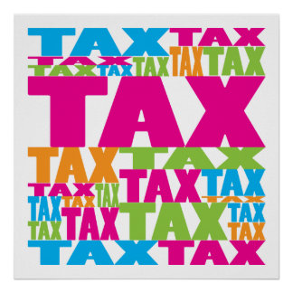 カラフルな税 ポスター