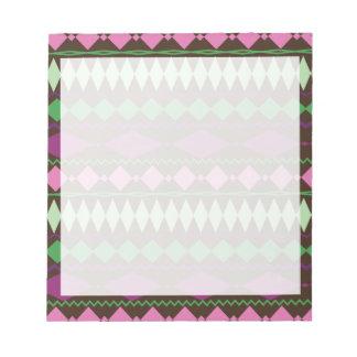 カラフルな種族の幾何学的なパターンデザイン ノートパッド