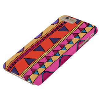 カラフルな種族の幾何学的な落書きの電話箱 BARELY THERE iPhone 6 PLUS ケース