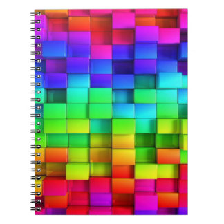 カラフルな立方体 ノートブック