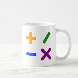 カラフルな算術記号 コーヒーマグカップ