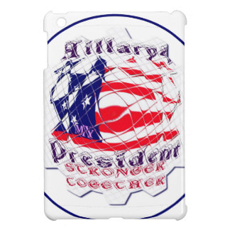 カラフルな米国旗は米国Presのためのヒラリーを着色します iPad Miniカバー
