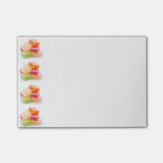カラフルな粘着性の正方形の菓子 ポストイット