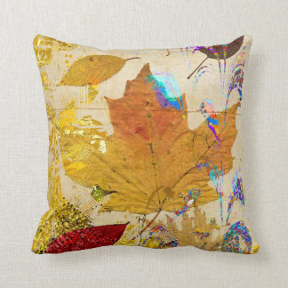 カラフルな紅葉のコラージュのカスタムの枕 クッション