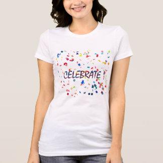 カラフルな紙吹雪はTシャツを祝います Tシャツ