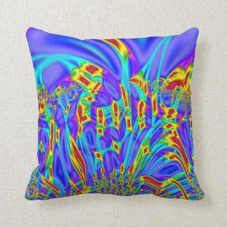 カラフルな紫色のターコイズの抽象芸術 クッション