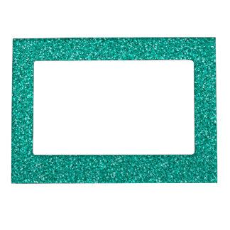 カラフルな結婚記念日のティール(緑がかった色)のグリッター マグネットフレーム
