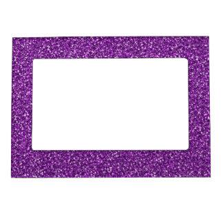 カラフルな結婚記念日の紫色のグリッター マグネットフレーム