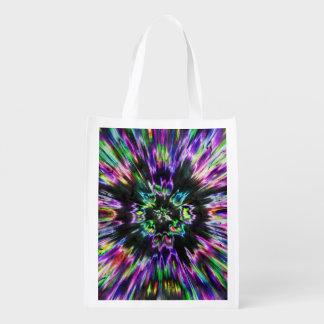 カラフルな絞り染めの抽象芸術 エコバッグ