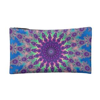 カラフルな絞り染めの星のフラクタルデザイン コスメティックバッグ
