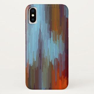 カラフルな絵画の抽象芸術の背景#2 iPhone X ケース