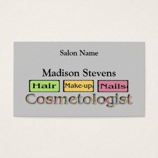 カラフルな美容師の名刺のテンプレート 名刺