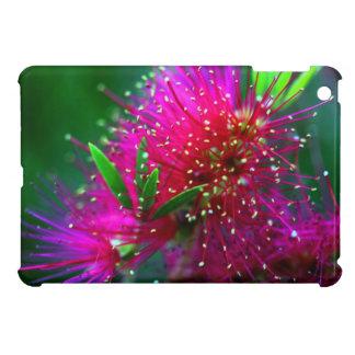 カラフルな自然の花のショッキングピンクのネオン緑の花 iPad MINI カバー