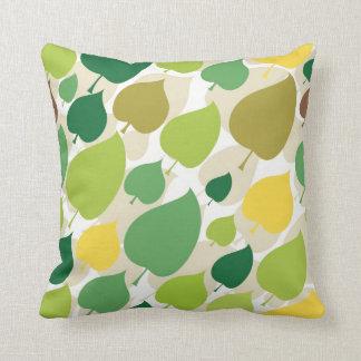 カラフルな自然パターン緑の黄色の葉 クッション
