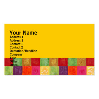 カラフルな色の格子図形の黄色 スタンダード名刺