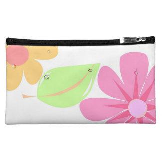カラフルな花のバッグ コスメティックバッグ