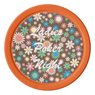 カラフルな花のポーカー用のチップ ポーカーチップ