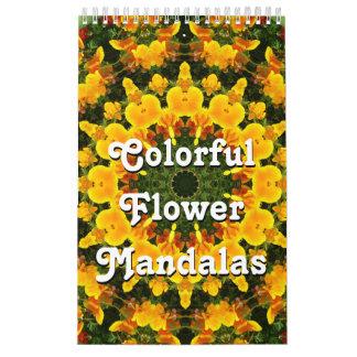 カラフルな花の曼荼羅 カレンダー