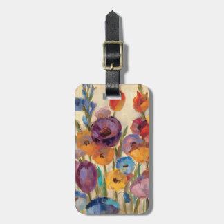 カラフルな花の花束 ラゲッジタグ