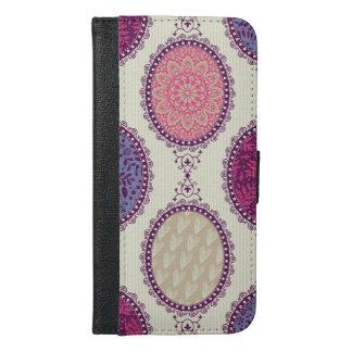 カラフルな花パターン iPhone 6/6S PLUS ウォレットケース