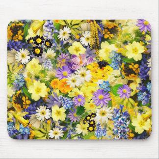 カラフルな花! マウスパッド