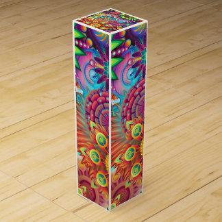 カラフルな花 ワインギフトボックス