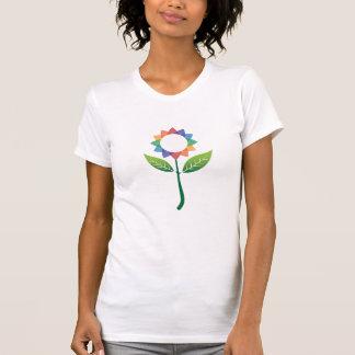 カラフルな花 Tシャツ