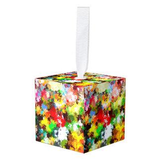 カラフルな芸術のカスタムな立方体のオーナメント キューブオーナメント