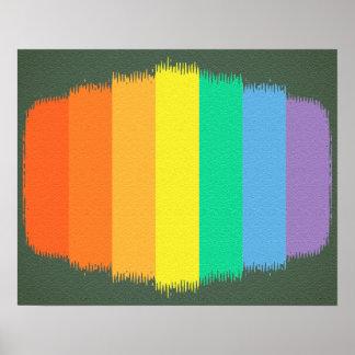 カラフルな芸術の虹は背景をなでます ポスター