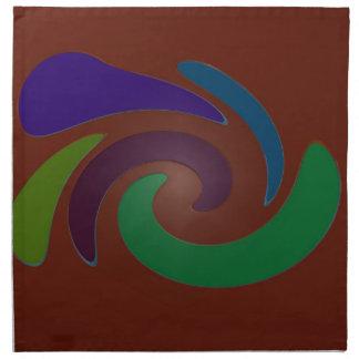 カラフルな茶色のポップアート ナプキンクロス