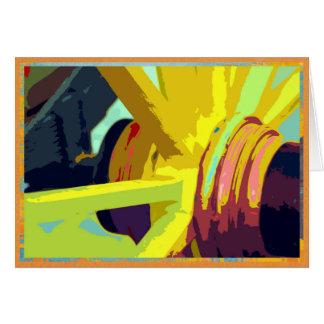 カラフルな荷馬車の車輪 カード