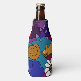 カラフルな落書きの芸術 ボトルクーラー