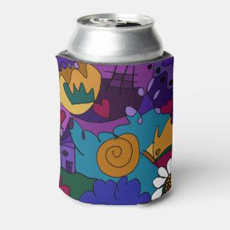 カラフルな落書きの芸術 缶クーラー