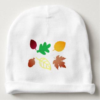 カラフルな葉が付いているベビーの帽子 ベビービーニー