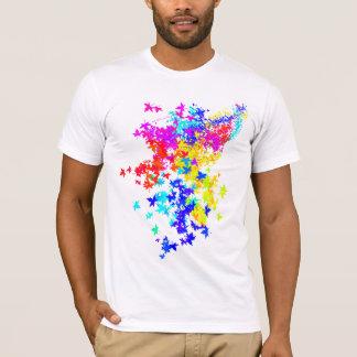 カラフルな葉 Tシャツ