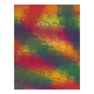 カラフルな虹のスクラップブックの紙2 レターヘッド