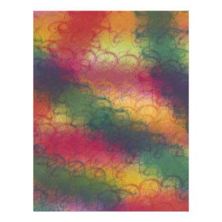 カラフルな虹のスクラップブックの紙 レターヘッド
