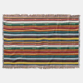 カラフルな虹のストライプの抽象的な質感のギフト スローブランケット