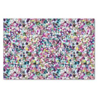 カラフルな虹のスパンコールの写真パターン 薄葉紙