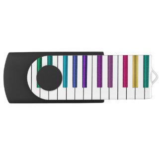 カラフルな虹のピアノ音楽USBのフラッシュドライブ USBフラッシュドライブ
