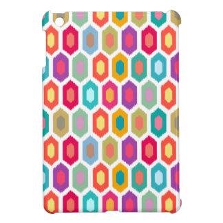 カラフルな虹のモダンなイカットパターン iPad MINIケース